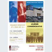 Journée commémorative - Hommage à Maurice Genevoix et « Ceux de 14 »