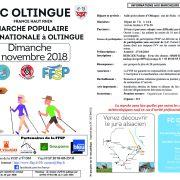 Marche populaire par le FC OLTINGUE à Oltingue 2018