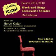 Week-end stage découverte théâtre adultes