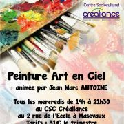 Peinture Art en Ciel au CSC Créaliance