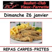 Repas Carpes frites du BCVF