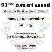 93ème Concert Annuel de la Musique Espérance d\'Uffheim