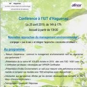 Conférence qualité : Nouvelles approches du management environnemental