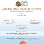 Ateliers yoga pour les enfants au Domaine du HIRTZ