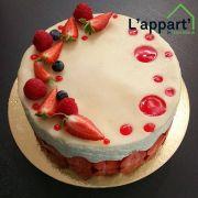 Atelier pâtisserie : fraisier décoré pour la Fête des Mères