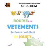 Bourse aux vêtements adultes/enfants et jouets à Artolsheim