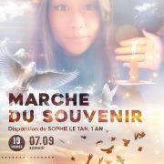 Marche du souvenir : commémoration des 1 an de la disparition de Sophie Le Tan
