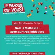 RDV Citoyen : «Noël à Mulhouse : zoom sur trois initiatives »