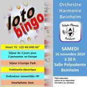 Loto Bingo de l\'Orchestre d\'Harmonie de Beinheim
