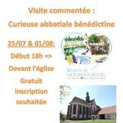 Visite curieuse abbatiale bénédictine Saint-Cyriaque