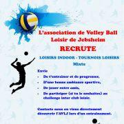 L'Association de Volley-ball Loisir de Jebsheim recrute pour la saison 2019/2020