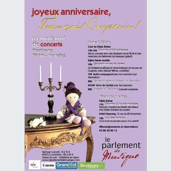 Joyeux Anniversaire Francois Couperin Strasbourg Musique