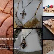Bijoux, toises pour enfant et sculptures murales en bois massif