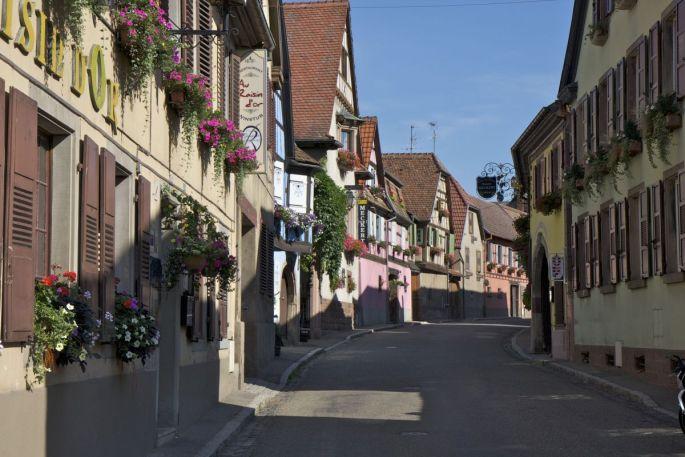 Les rues de la jolie commune d\'Heiligenstein