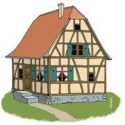 Fabrication de maison alsacienne avec Kevan au Restaurant de la Maison Du Fromage