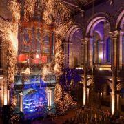 La naissance de la Lumière, son et lumière avec mapping vidéo et orgue