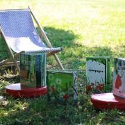 Lire au parc à Lapoutroie