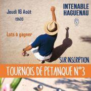Tournois de Pétanque n°3