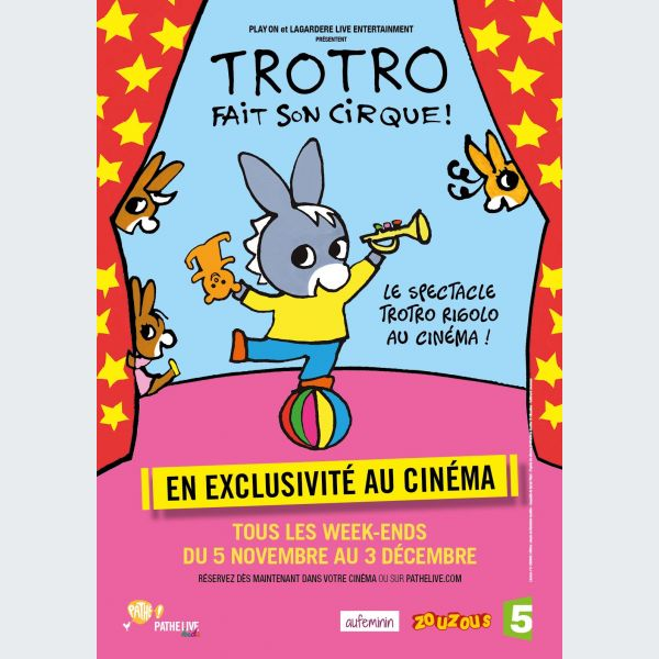 Trotro fait son cirque au cin ma strasbourg actu - Trotro fait de la musique ...