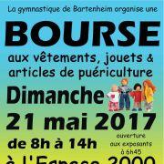 Bourse aux vêtements, jouets et articles de puériculture à Bartenheim 2017