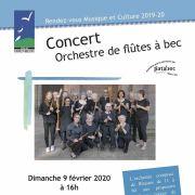 Concert de l\'Orchestre de Flûtes à Bec