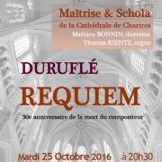 Maîtrise et la Schola de la Cathédrale de Chartres : Requiem (Duruflé)