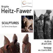 Brigitte Heitz-Fawer- Exposition de sculptures