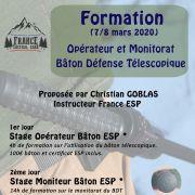 Formation Opérateur et Monitorat Bâton de défense