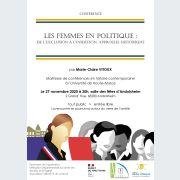 REPORTE à une date ultérieure : Les femmes en politique : de l\'exclusion à l\'insertion