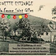 Buvette estivale à la ferme Saint-Gilles