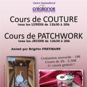 Couture, Patchwork et Broderie au CSC Créaliance