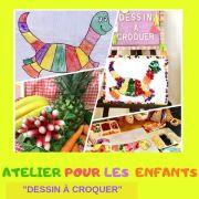 Dessins à croquer - Atelier de sculptures sur fruits et légumes