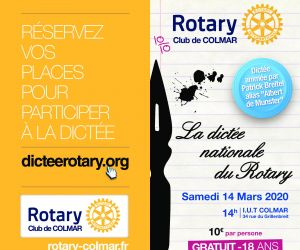 La dictée nationale du Rotary à Colmar