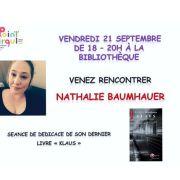 Seance dedicace Nathalie Baumhauer
