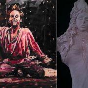 Peinture Francine CLERC et sculpture Vesnica MARTIN-HAJPEK
