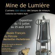 Exposition MINE DE LUMIERE... Des lampes de mineurs mises en lumière...