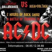A battle of tributes to AC/DC