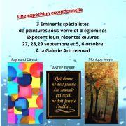 Exposition de peintures sous verre et d\'églomisés contemporains