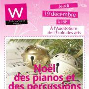 Le Noël des pianos et des percussions