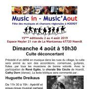 Festival Music in - Music\'Aout : Culte déconcertant et concert de clôture