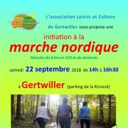 Initiation à la Marche Nordique à Gertwiller