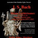 Messes luthériennes et double concerto de Bach