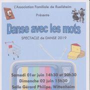 La troupe Temps Danse : danse avec les mots