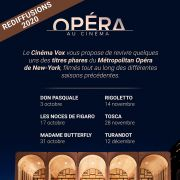 Rediffusions Métropolitan Opéra de New-York - au Cinéma Vox