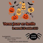 Après-midi jeux spéciale Halloween à la Ludothèque