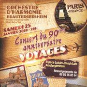 Concert du 90 ème Anniversaire - Harmonie Vogesia de Krautergersheim