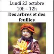 Atelier d\'anglais - enfants 3 à 6 ans : Des arbres et des feuilles
