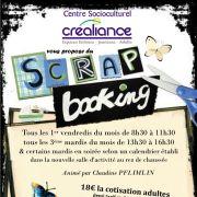 Scrapbooking au CSC Créaliance