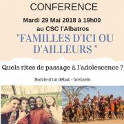 « Familles d'ici et d'ailleurs : les rites de passages à l'adolescence »