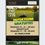 Initiations gratuites au golf